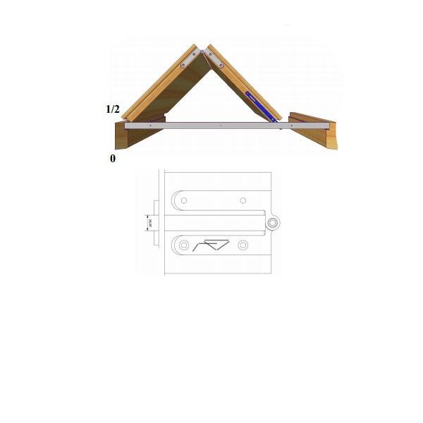Система за врата тип книга симетрична на бутане