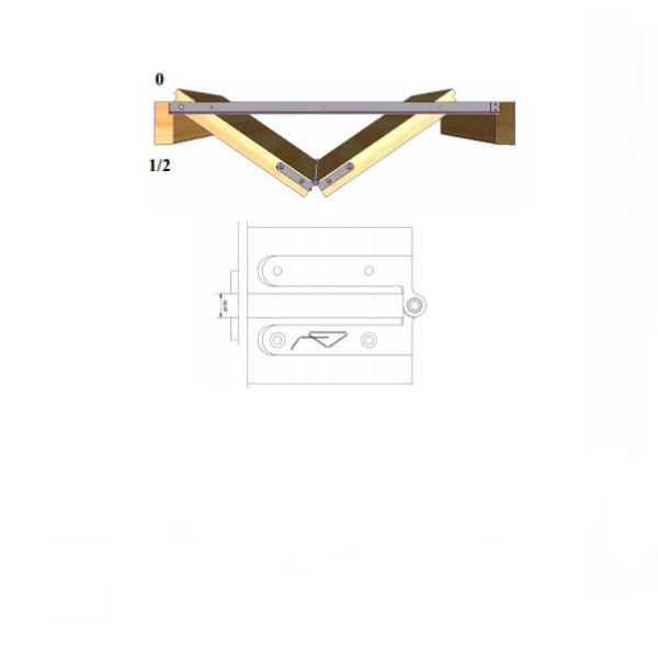 Система за врата тип книга симетрична на дърпане